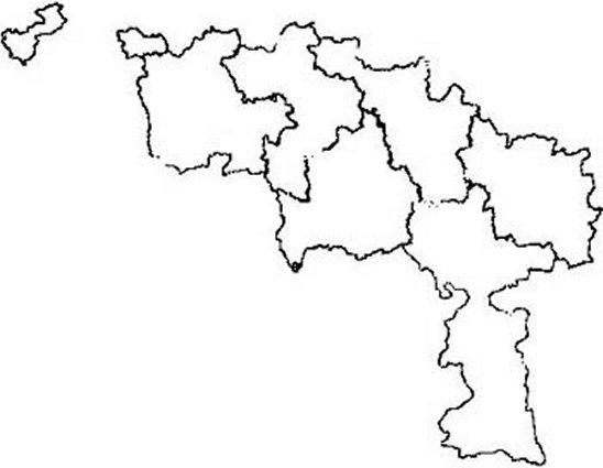 carte de la Province de Hainaut